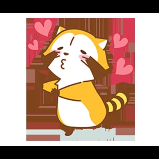 Happy Raccoon Love - Sticker 18