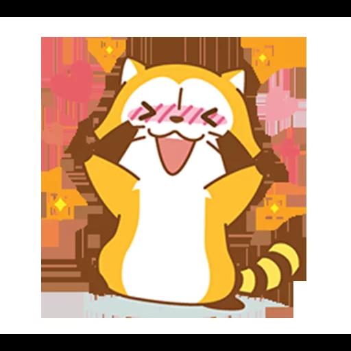 Happy Raccoon Love - Sticker 8