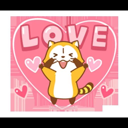 Happy Raccoon Love - Sticker 19