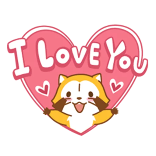 Happy Raccoon Love - Sticker 16