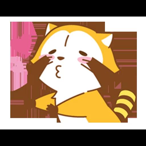 Happy Raccoon Love - Sticker 1
