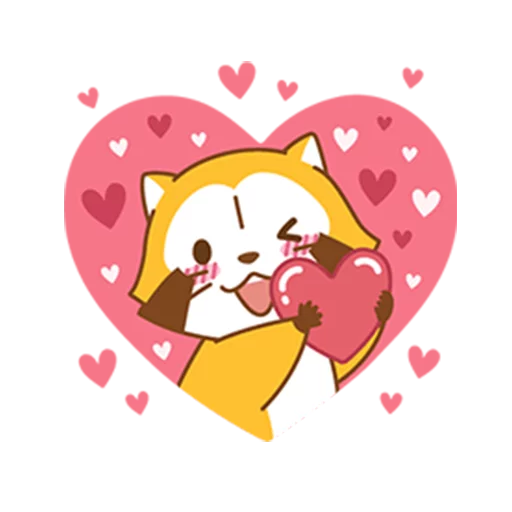 Happy Raccoon Love - Sticker 11
