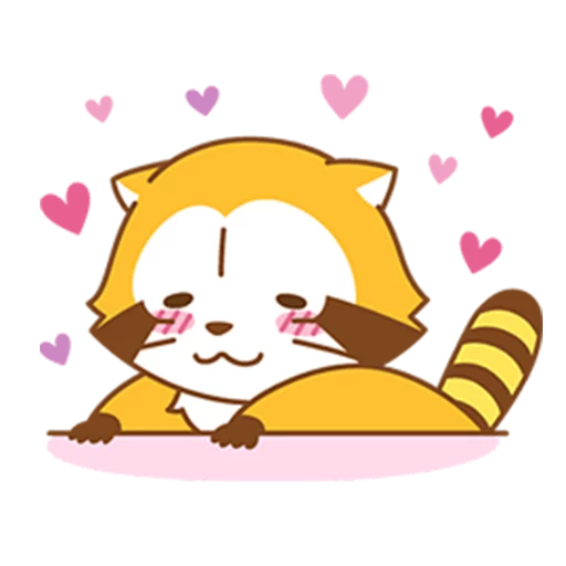 Happy Raccoon Love - Sticker 9