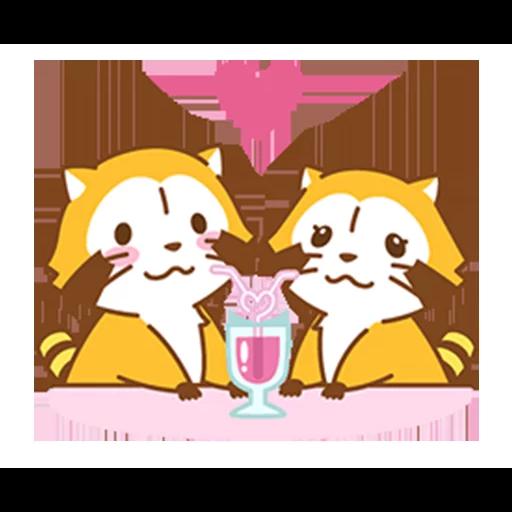Happy Raccoon Love - Sticker 7