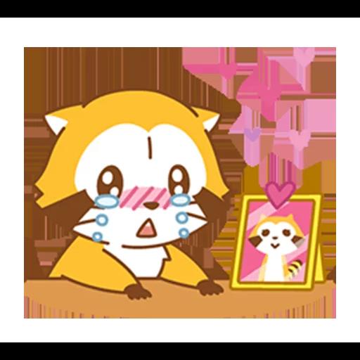 Happy Raccoon Love - Sticker 4