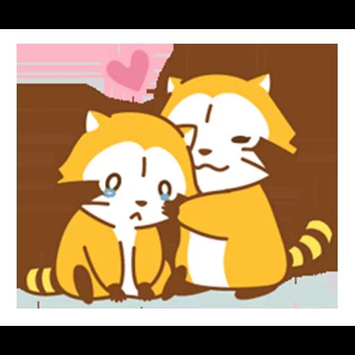 Happy Raccoon Love - Sticker 12