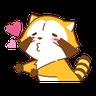Happy Raccoon Love - Tray Sticker