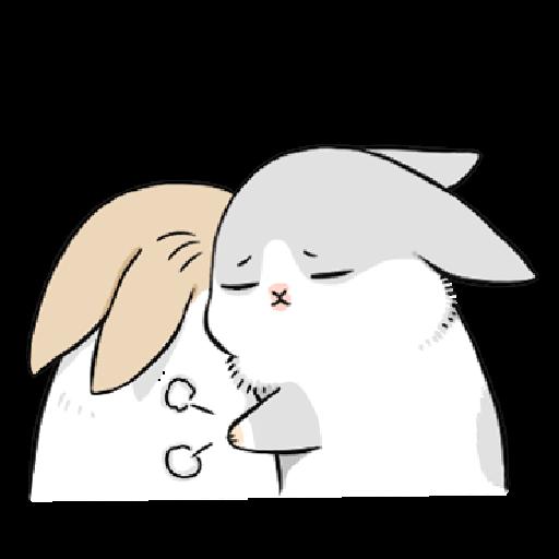 ㄇㄚˊ幾兔10 Love,呵返 - Sticker 21