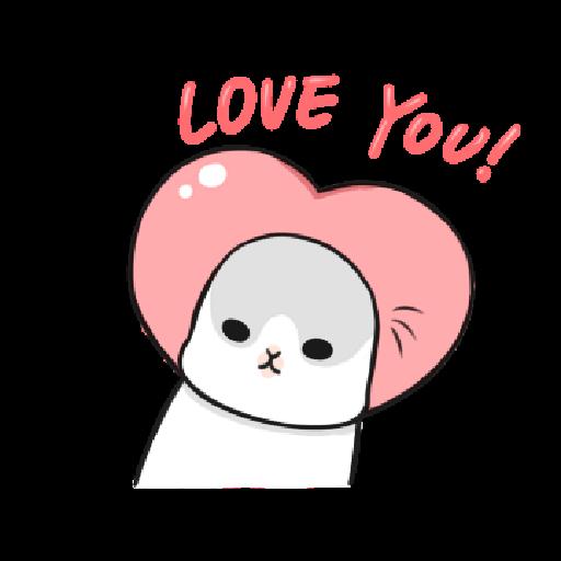 ㄇㄚˊ幾兔10 Love,呵返 - Sticker 5