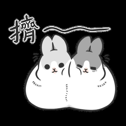 ㄇㄚˊ幾兔10 Love,呵返 - Sticker 6