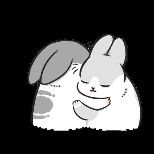 ㄇㄚˊ幾兔10 Love,呵返 - Sticker 22