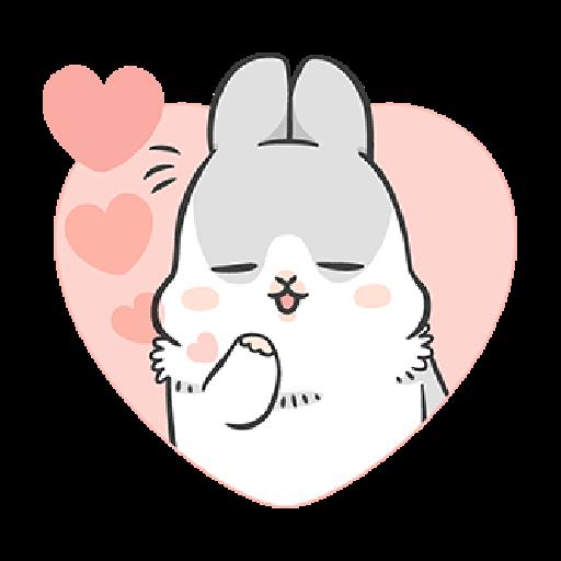 ㄇㄚˊ幾兔10 Love,呵返 - Sticker 9