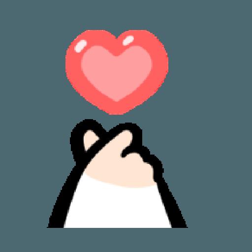 ㄇㄚˊ幾兔10 Love,呵返 - Sticker 14