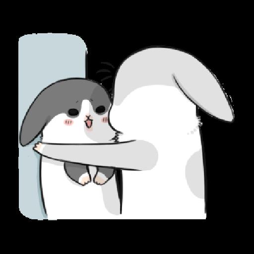 ㄇㄚˊ幾兔10 Love,呵返 - Sticker 2