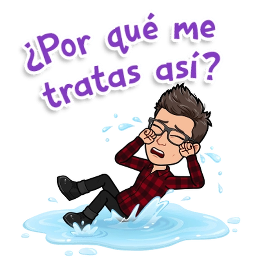 Sadness BitMoji - Sticker 23