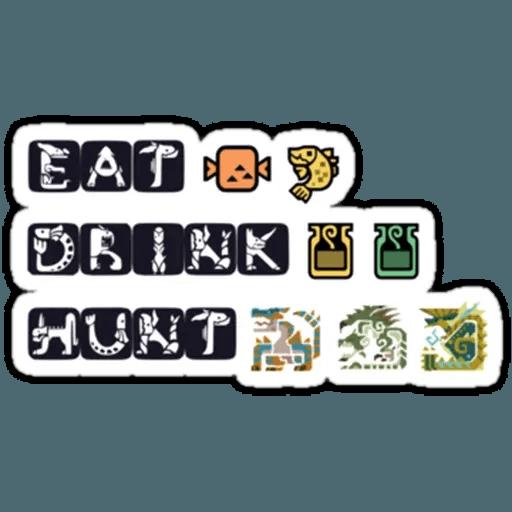Monster hunter - Sticker 13