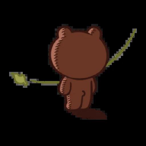 Brown line - Sticker 23