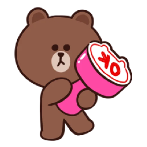 Brown line - Sticker 1