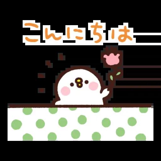 kanahei & usagi friendly greetings - Sticker 6