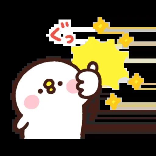 kanahei & usagi friendly greetings - Sticker 17