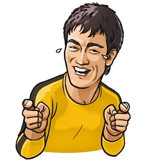 Bruce Lee - Tray Sticker